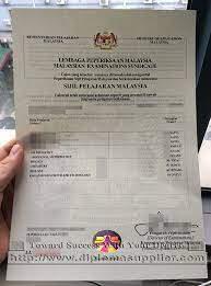 Buy Sijil Pelajaran Malaysia fake certificate